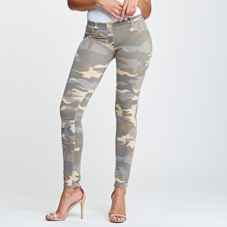 WR.UP LOW WAIST SKINNY - CAMOUFLAGE- Z48M