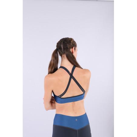 Bio D.I.W.O® Yoga Top - Made in Italy - B107B - Blu Vienna