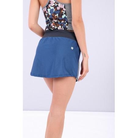 Yoga Skirt - Made in Italy - B107B - Blu Vienna