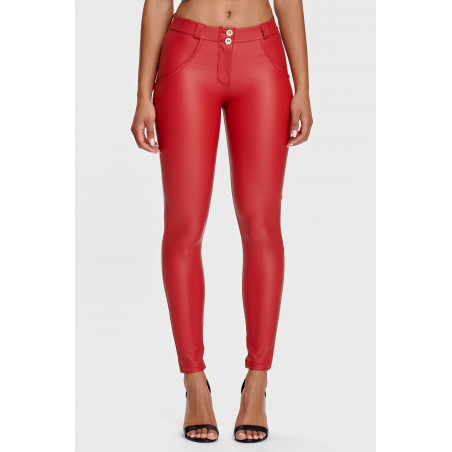 WR.UP® Ecoleather - Regular Waist Skinny - R680 - Red
