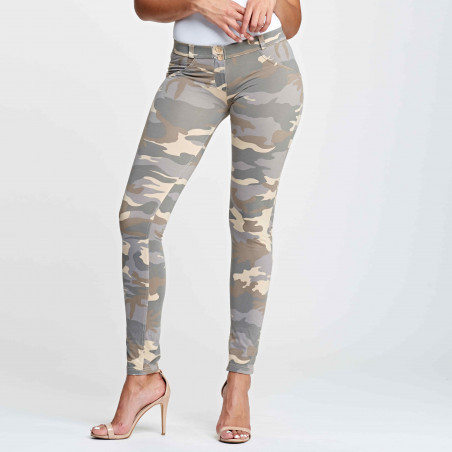 WR.UP REGULAR WAIST SKINNY - CAMOUFLAGE - Z48M