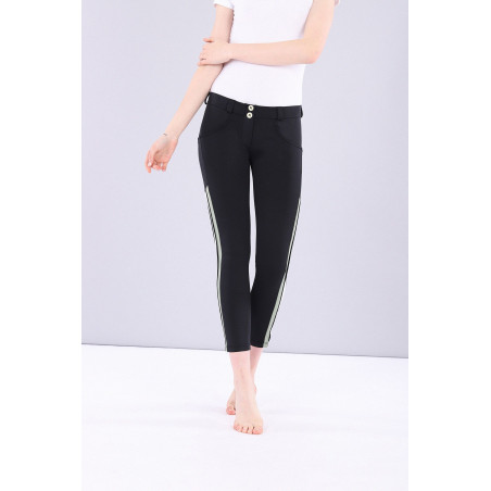 WR.UP PERFORMANCE FABRIC WITH BANDS - REGULAR WAIST SKINNY - 7/8 LENGHT - N - BLACK