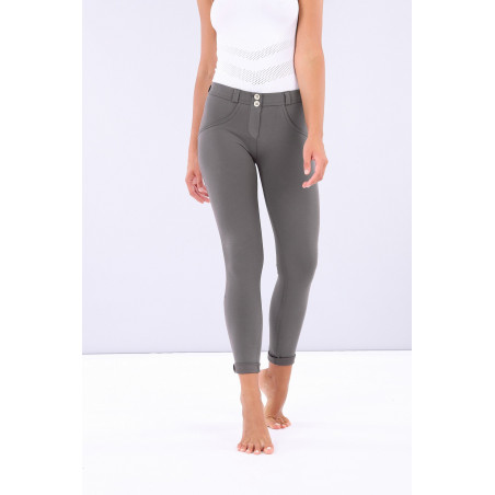 WR.UP REGULAR WAIST SKINNY - MADE IN ITALY - SHINY INNER - G55 - VOLCANIC GLASS