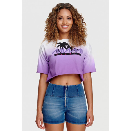 Oversize Cropped T-Shirt - Freddy Miami print - WE53