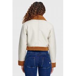 WR.UP¨ REGULAR WAIST SKINNY - DENIM EFFECT WITH WHITE WHISKERING - J45Y