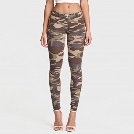 WR.UP REGULAR WAIST SKINNY - Camouflage - M95M
