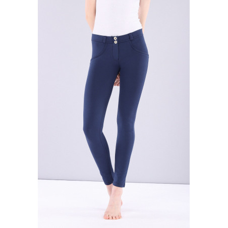WR.UP REGULAR WAIST SKINNY - MADE IN ITALY - SHINY INNER - B63 - MOOD INDIGO