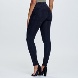 WR.UP BRUSHED D.I.W.O - REGULAR WAIST SKINNY - N0 - BLACK