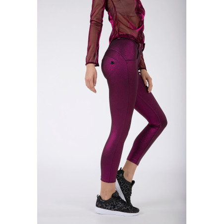 WRUP® Regular Waist Skinny - Metallic Jersey - F97 - Fuchsia Metalized