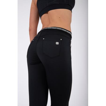 N.O.W® Pants - D.I.W.O® Mid Waist Skinny - Foldable Waist - N - Black