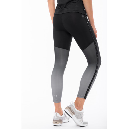 Superfit Leggins In D.I.W.O® - High Waist Skinny - Dégradé Print - 7/8 Length - NG4 - Black & Grey Decade
