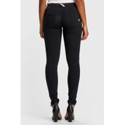 WR.UP ECOLEATHER - MID WAIST SKINNY - R680 - DEEP CLARET RED