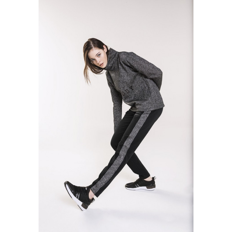 LONG TROUSERS - CONTRASTING PIPING - N - BLACK