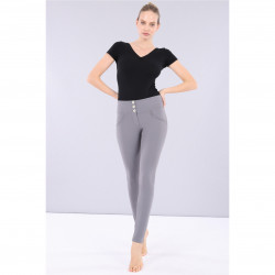SUPERFIT LEGGINS D.I.W.O - 7/8 LENGTH - REGULAR WAIST SKINNY - N26Q - MELANGE BLACK
