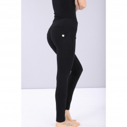SUPERFIT LEGGINS D.I.W.O - HIGH WAIST SKINNY - 7/8 LENGHT - NNB2 - GOLD DETAILED BLACK