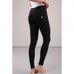 SUPERFIT LEGGINS - REGULAR WAIST SKINNY - LUREX BELT - N0 - BLACK