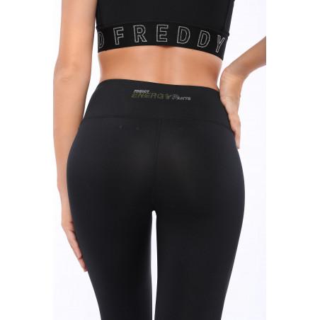Energy Pants® In D.I.W.O® - High Waist Skinny - 7/8 Length - Reflective Details - N - Black