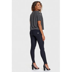 WR.UP REGULAR WAIST SUPER SKINNY - STRETCH COTTON - N - BLACK