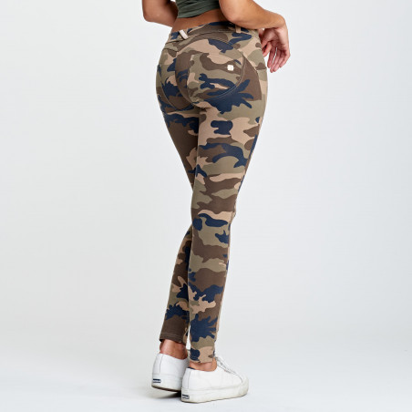 WR.UP LOW WAIST SKINNY - CAMOUFLAGE - M95M