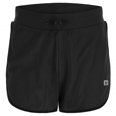 SHORTS WITH SIDE SLITS - N - BLACK